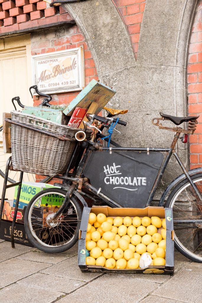 Cute bike with oranges