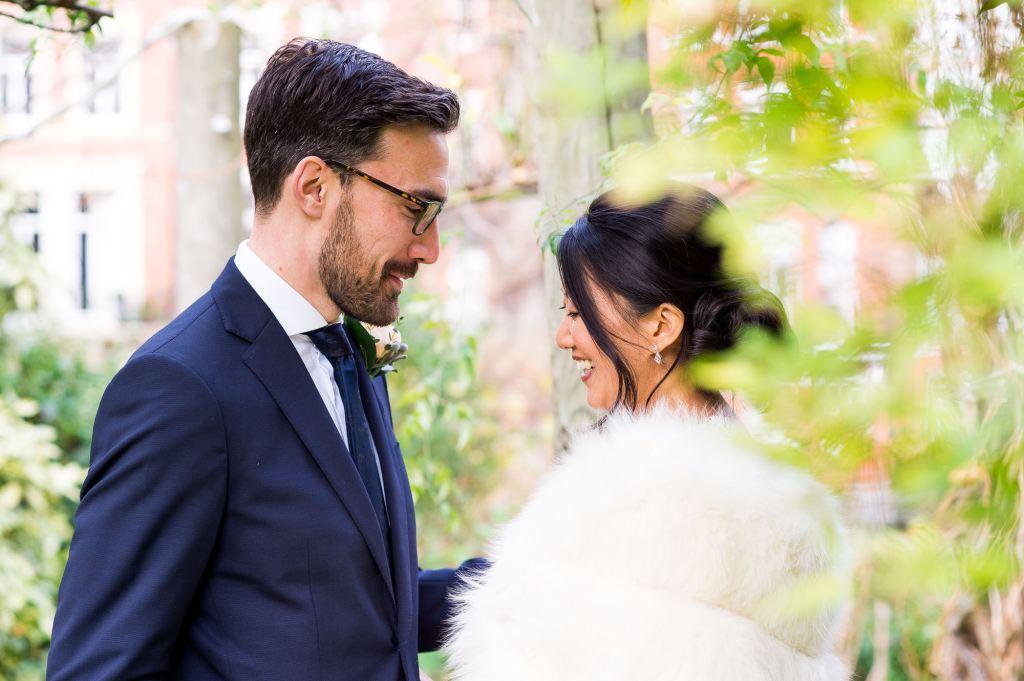 Natural wedding portrait London Wedding