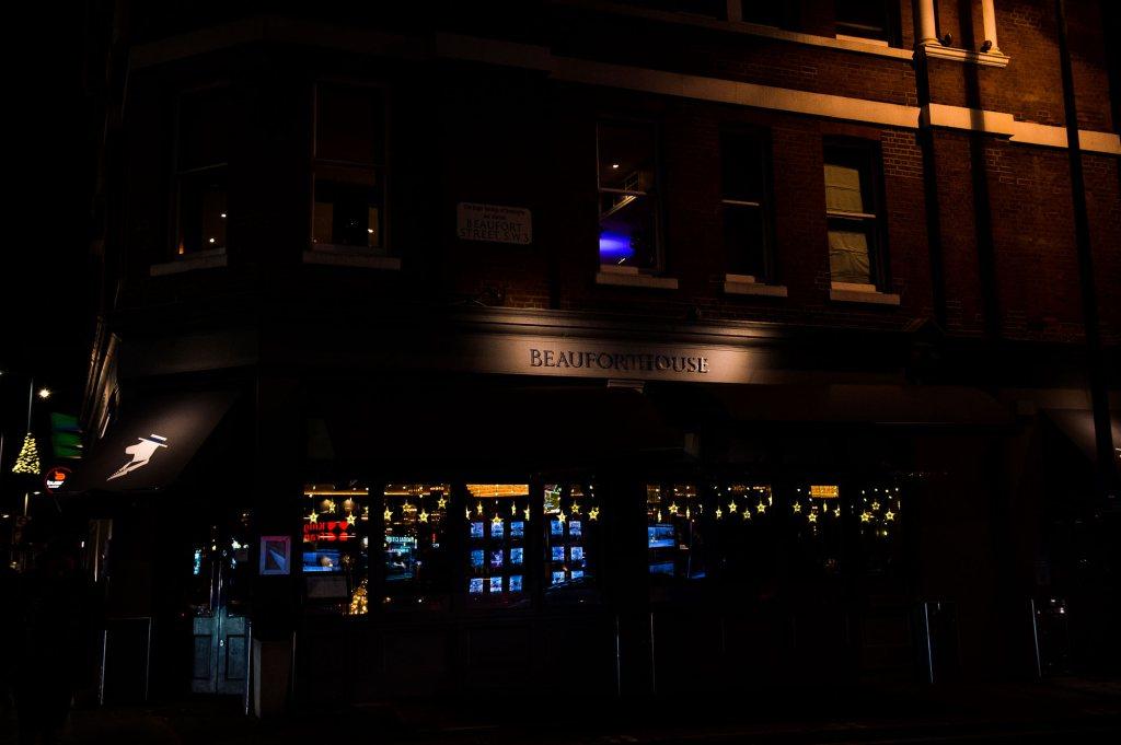 Nighttime London reception venue