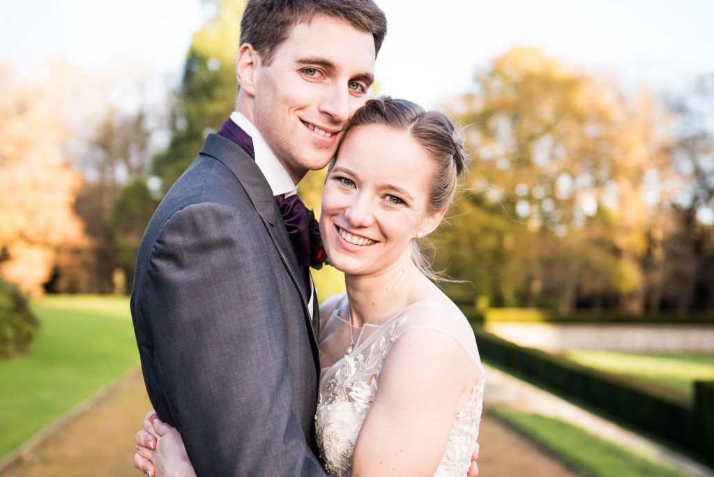 Ashridge House Wedding. Natural Wedding Photography. Golden hour evening light portrait.