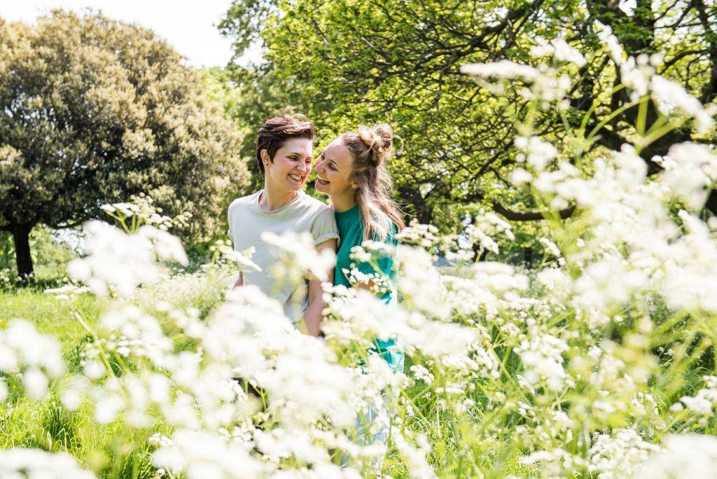 Cusworth Hall Engagement Shoot, Candid Couples Engagement Portrait