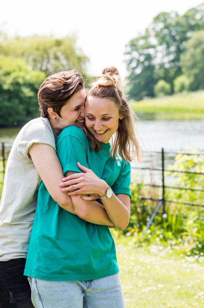 Cusworth Hall Engagement Shoot, LGBT Engagement Shoot, Happy Couple Hugging