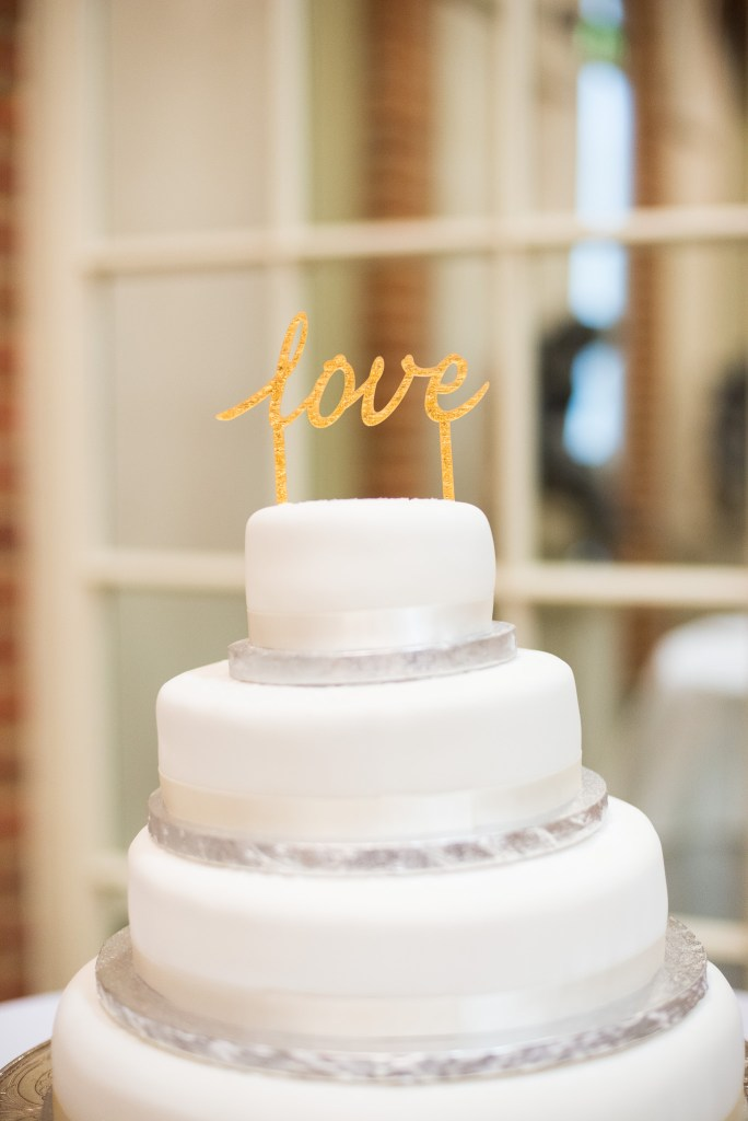 Great Fosters. Natural Documentary Wedding Photography, Surrey. Marks and Spencers Wedding Cake