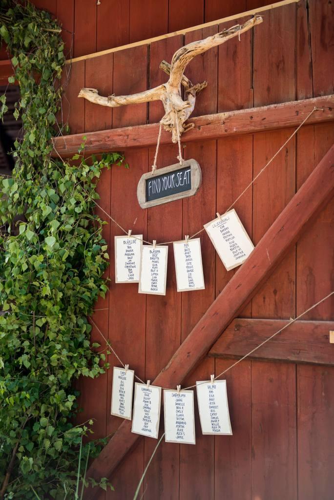 Swedish Wedding - Kroksta Gard Wedding - Home made Seating Chart