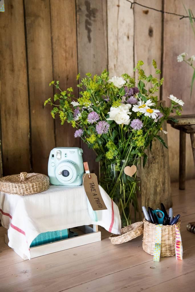Swedish Wedding - Kroksta Gard Wedding - DIY Wedding Guestbook Display