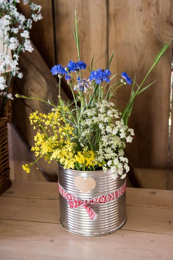 Swedish Wedding - Kroksta Gard Wedding - DIY Wedding Flowers