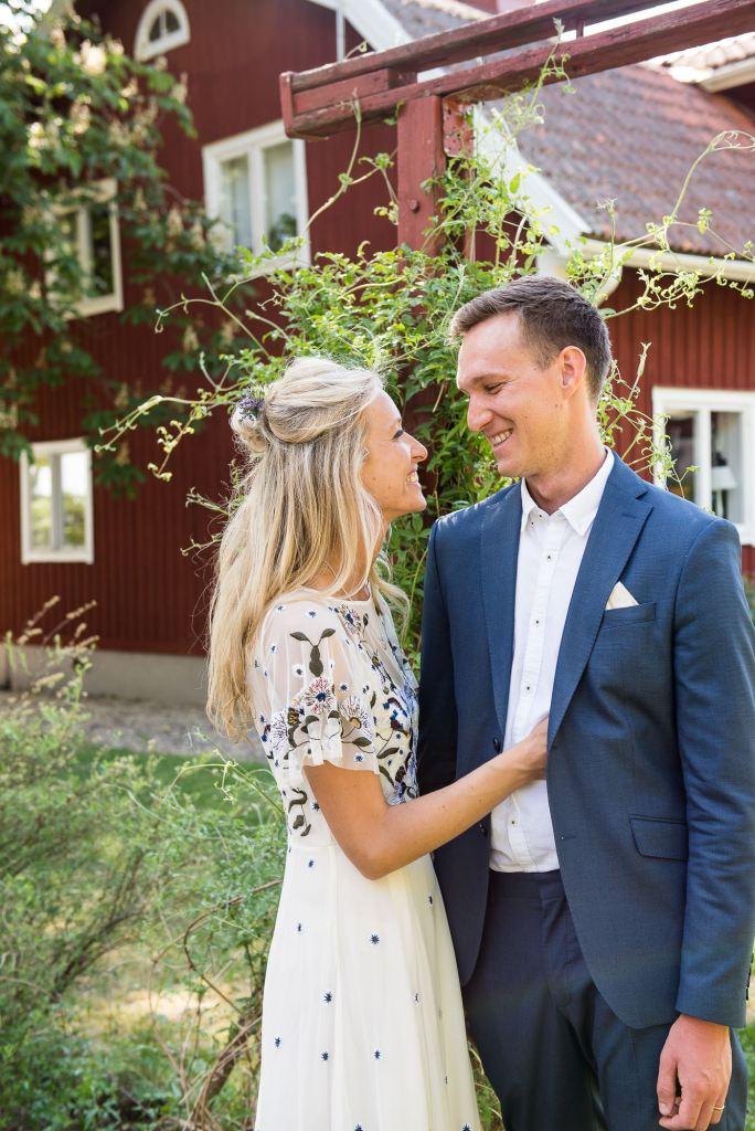 Swedish Wedding - Kroksta Gard Wedding - Gorgeous French Connection Bride with Handsome and Stylish Groom
