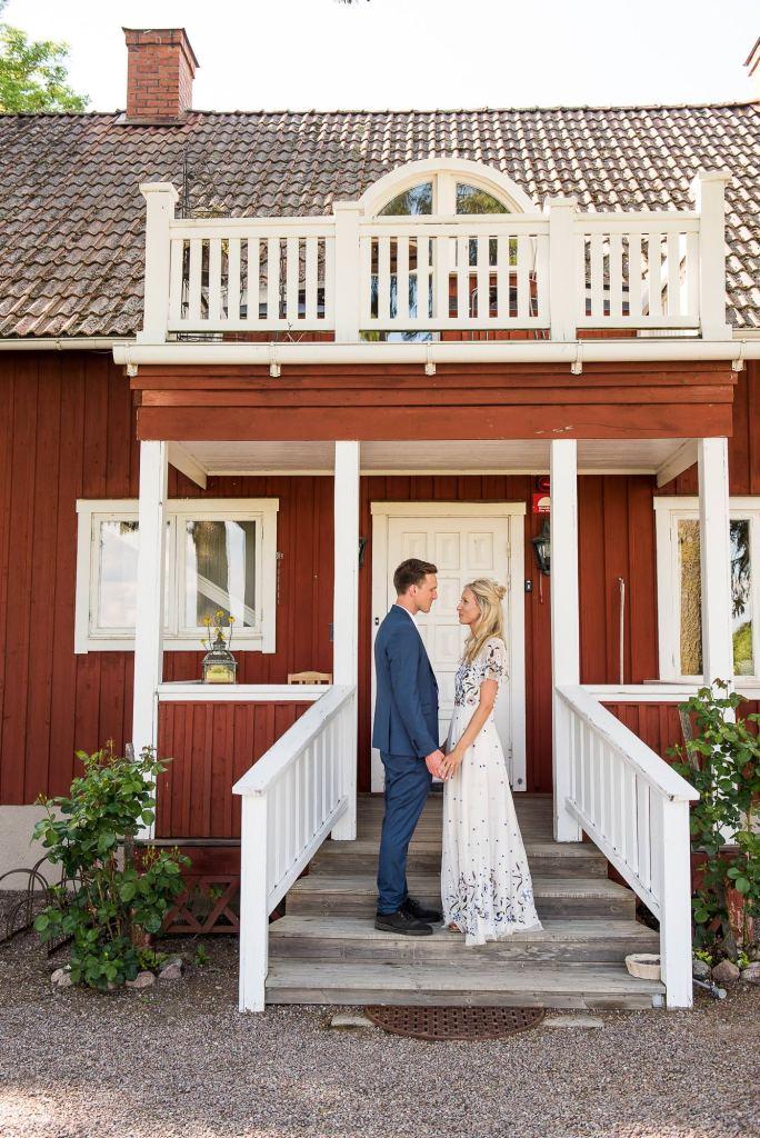 Swedish Wedding - Kroksta Gard Wedding - Natural and Candid Couples Portrait