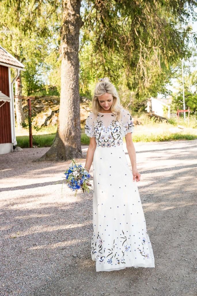 Swedish Wedding - Kroksta Gard Wedding - Natural and Candid Bride Portrait
