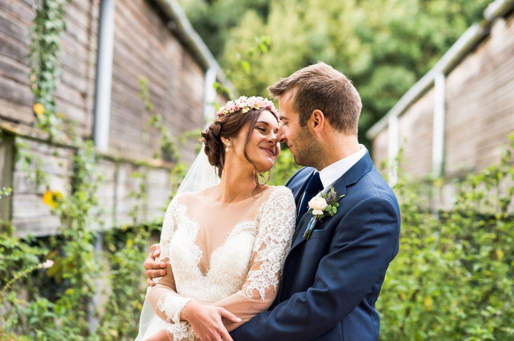 Relaxed Wedding Photography - Romantic Couple Portrait - Norfolk Wedding