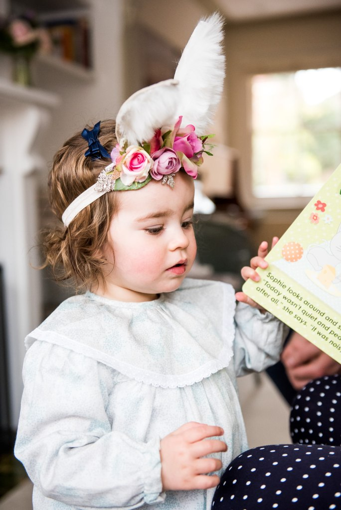 Surrey Family Photography, Family photographer, Adorable Little Girl in Easter Head Band