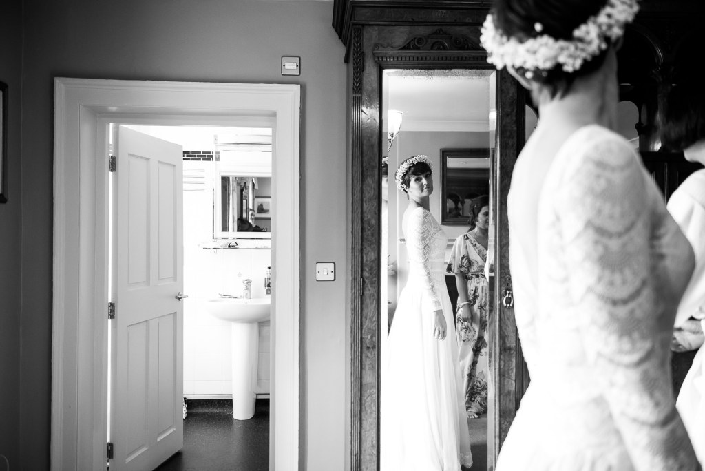 Inkersall Grange Farm Wedding - Same Sex Wedding Photography - Bridal Dress Reveal