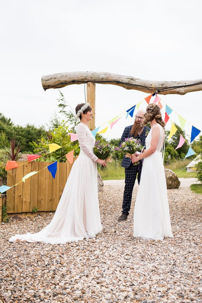 Inkersall Grange Farm Wedding - Same Sex Wedding Photography - Boho Tipi Wedding Ceremony