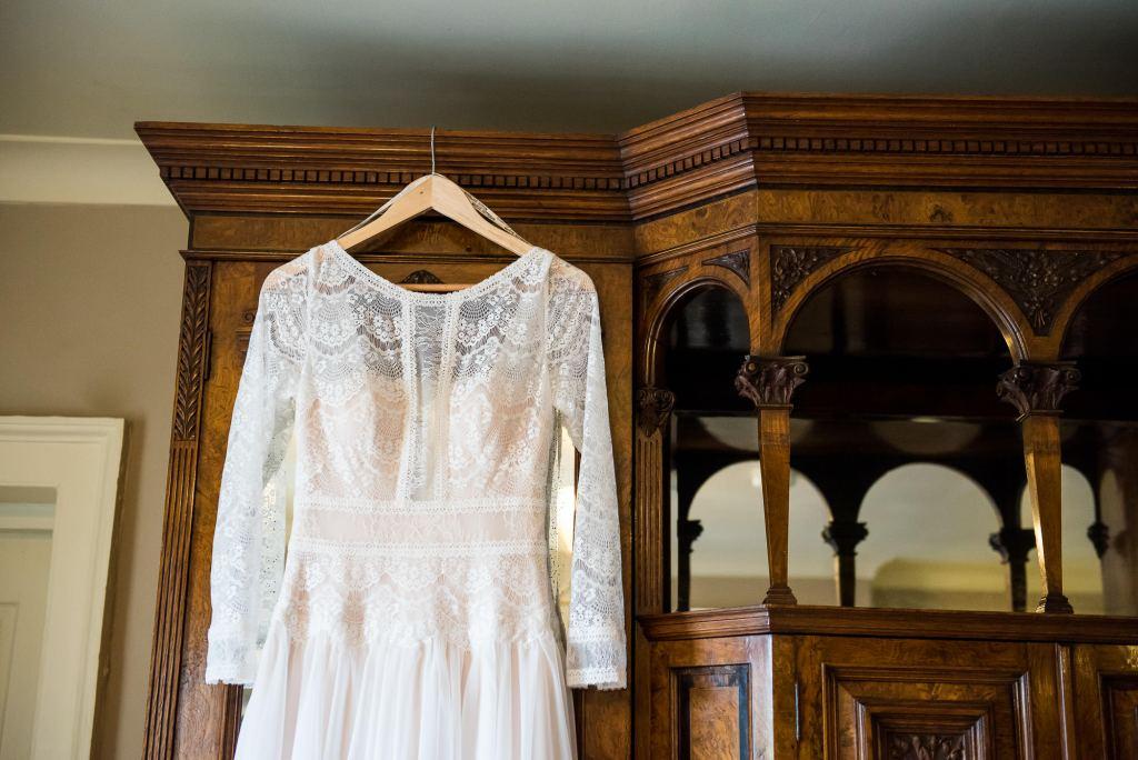 Inkersall Grange Farm Wedding - Same Sex Wedding Photography - Maggie Sotterro Wedding Dress