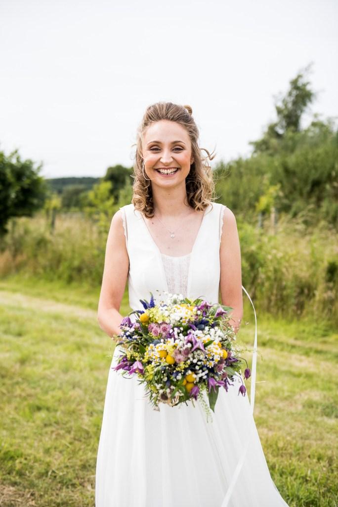 Inkersall Grange Farm Wedding - Same Sex Wedding Photography - Beautiful Boho Rembo Styling Bride