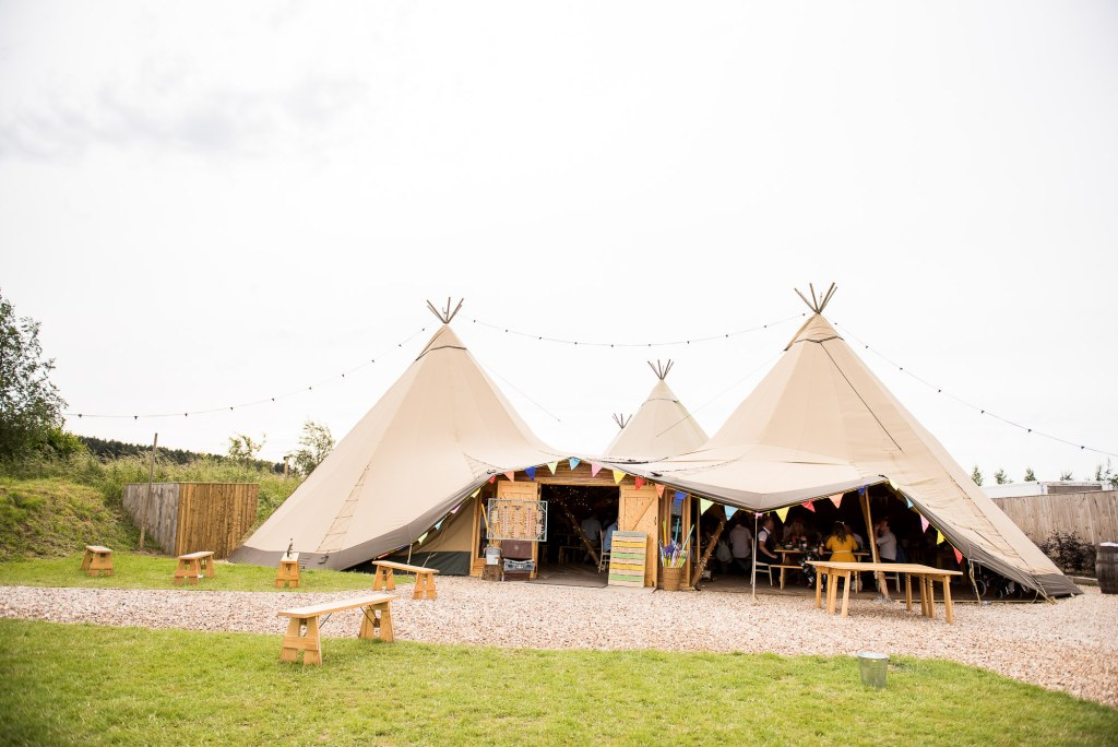 Inkersall Grange Farm Wedding - Same Sex Wedding Photography - Tipi Wedding Venue