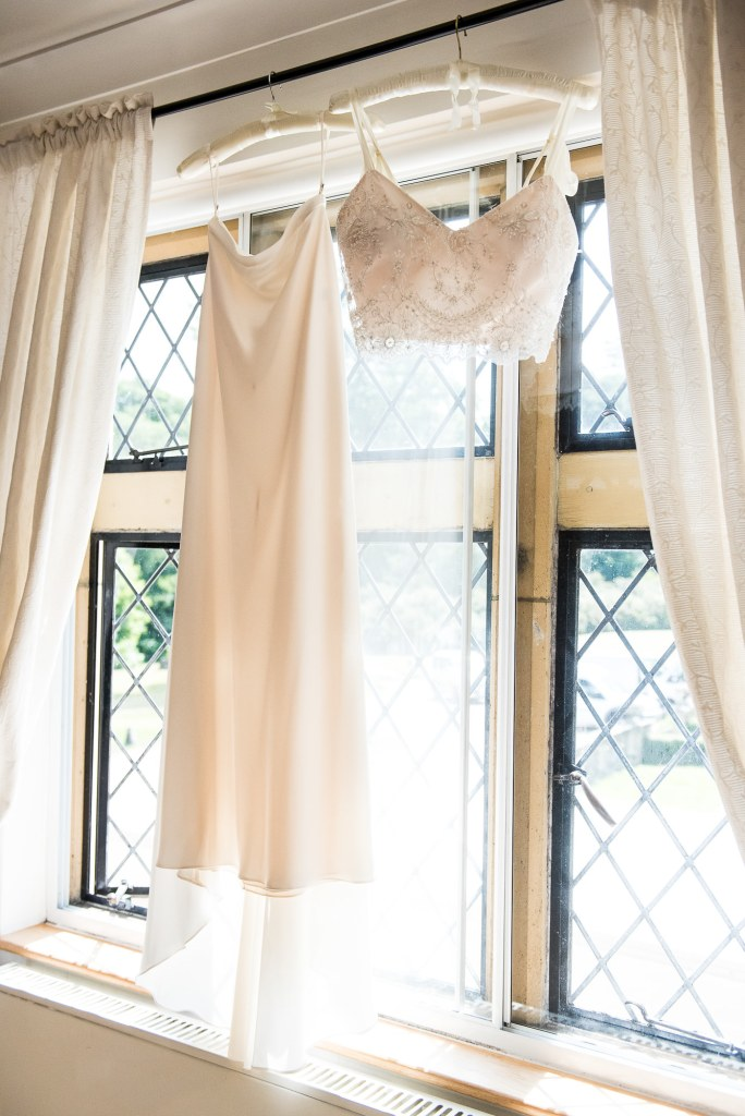 Outdoor Wedding Ceremony, Surrey Wedding Photography, Catherine Deane Bridal Separate Gown