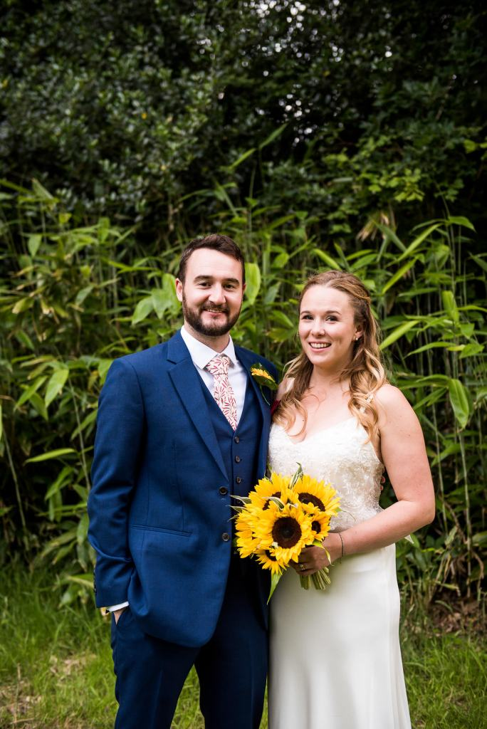 Outdoor Wedding Ceremony, Surrey Wedding Photography, Natural Wedding Photographs With Bamboo Forest Backdrop
