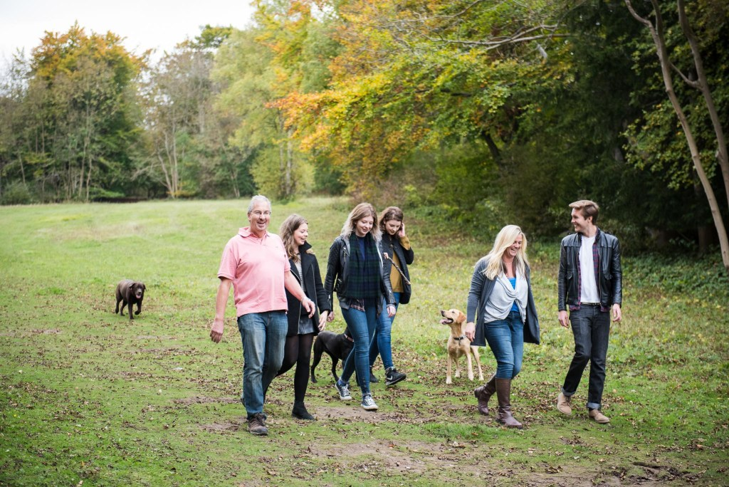 Surrey Family Photography, Family Walk Through The Woodland Together