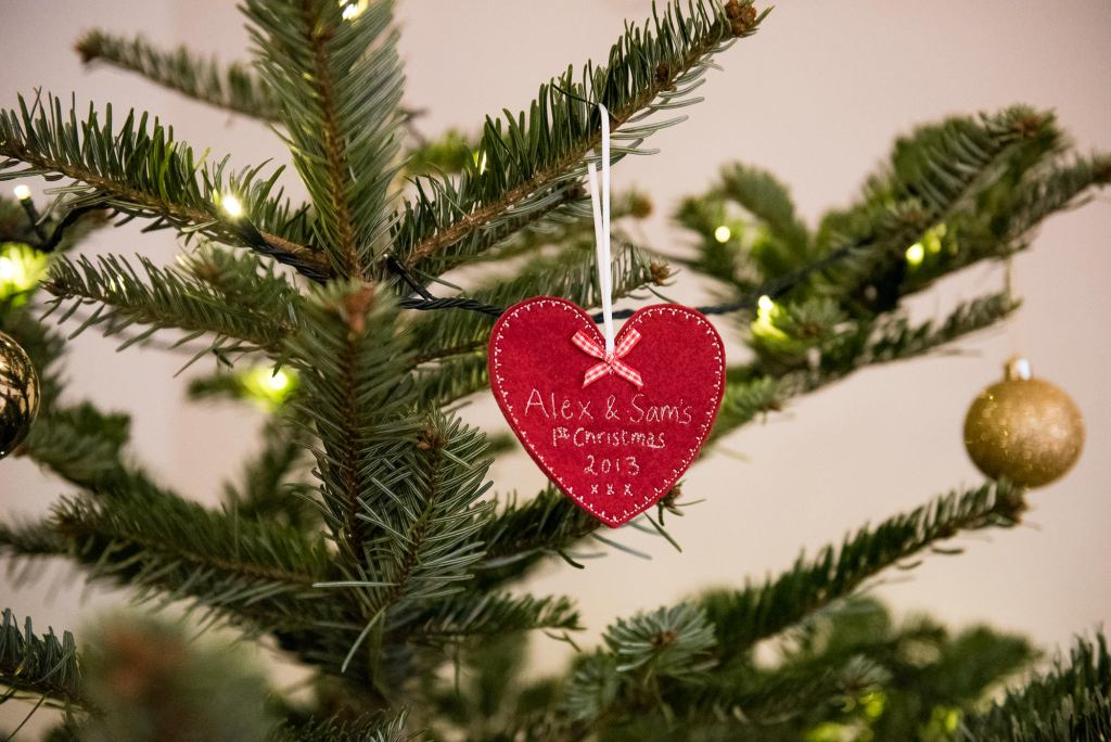 Newborn Photography Guildford, Christmas Family Shoot, Christmas Decoration on The Tree