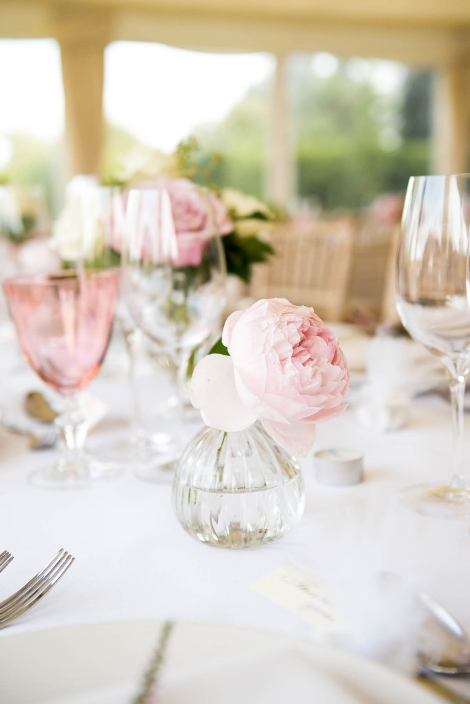 Outdoor Wedding Photography Surrey, Gorgeous Pink Peony Flower Display