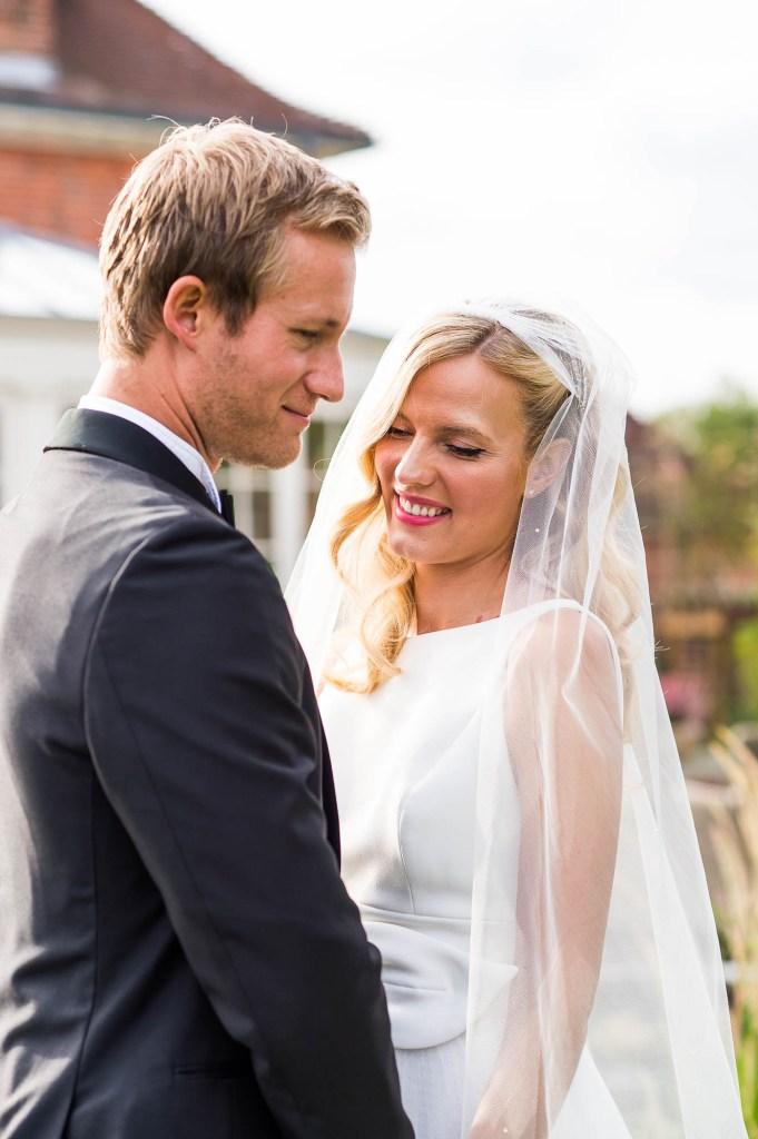 Outdoor Wedding Photography Surrey, Natural Wedding Portrait At Golden Hour