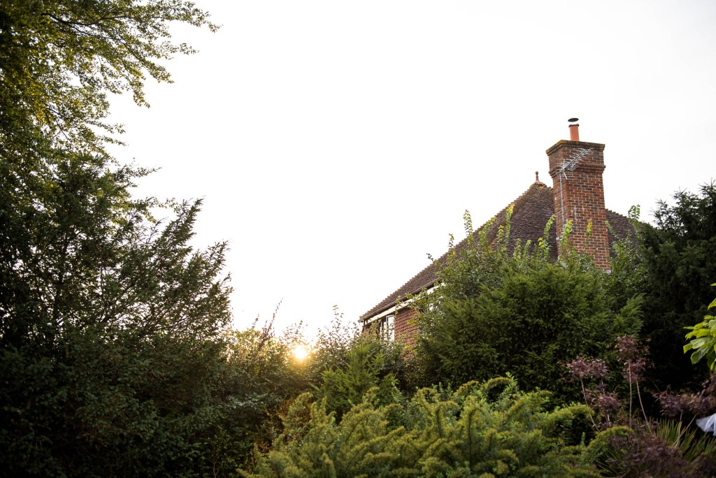 Outdoor Wedding Photography Surrey, Houses In Sunset