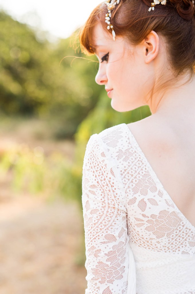 Miss Bush Bridal, Shiokba Bridal Boho Dress With Lace Detailing Sleeves, Surrey Wedding Photography