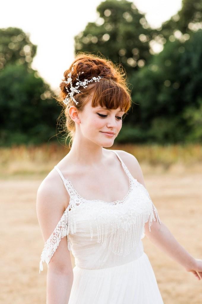 Miss Bush Bridal, Golden Hour Light Portrait Boho Bride At Sunset