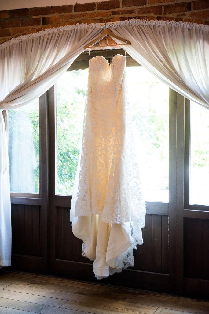 lgbt wedding photographer, Maggie Sottero strapless lace detail wedding dress, Dodmoor House Wedding