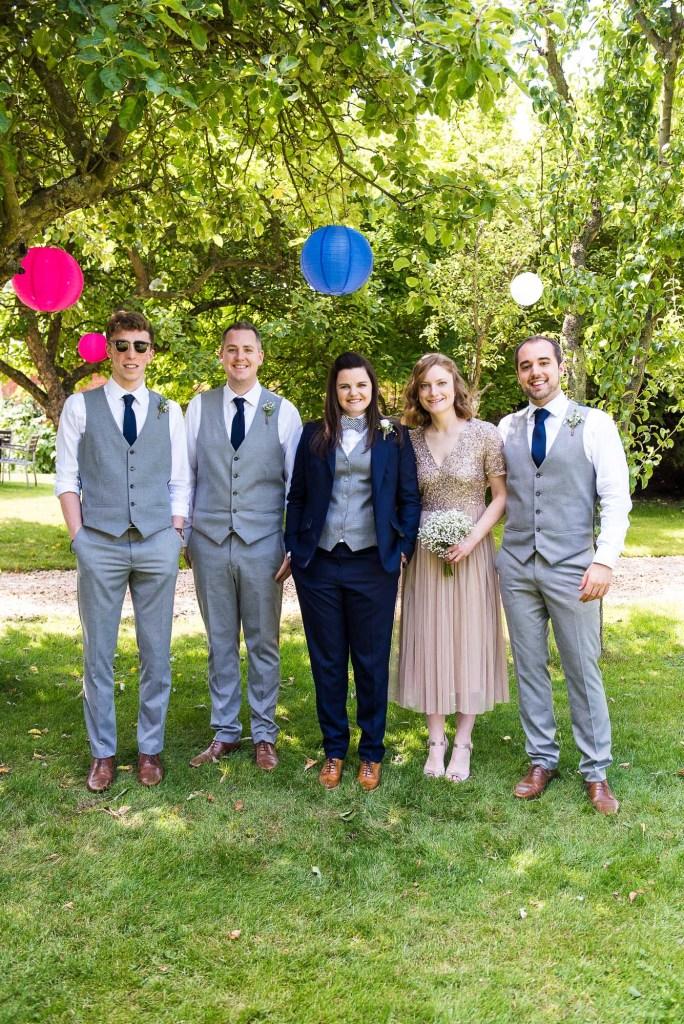 lgbt wedding photographer, natural group wedding photography, Dodmoor House wedding