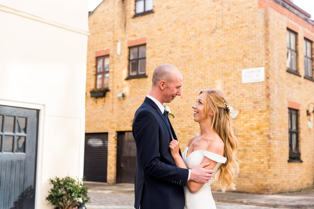 Old Marylebone Town Hall Wedding, Golden hour couples portrait, Documentary wedding photographer London
