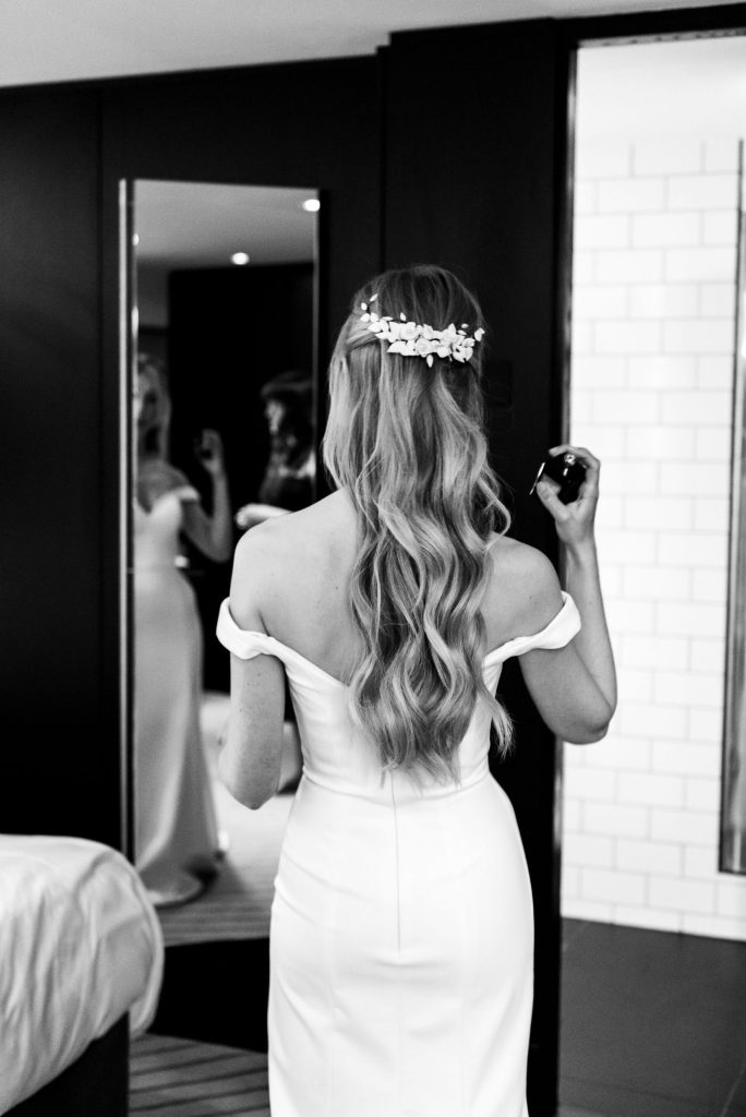 Old Marylebone Town Hall Wedding, relaxed and candid bridal preparation photography