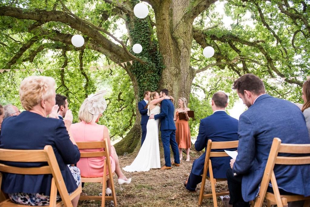 LGBT wedding photography, outdoor wedding ceremony Surrey