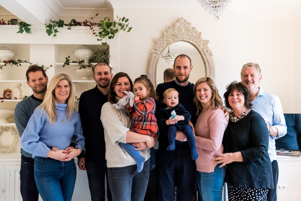 Natural and relaxed family portrait London family photography