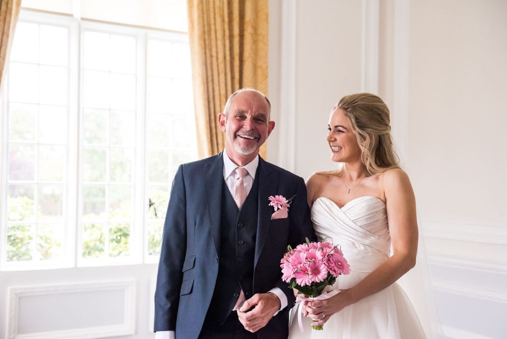 st martha's wedding, bride and her father