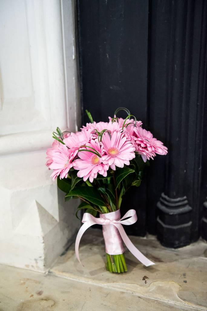st martha's wedding, pink floral bridal bouquet