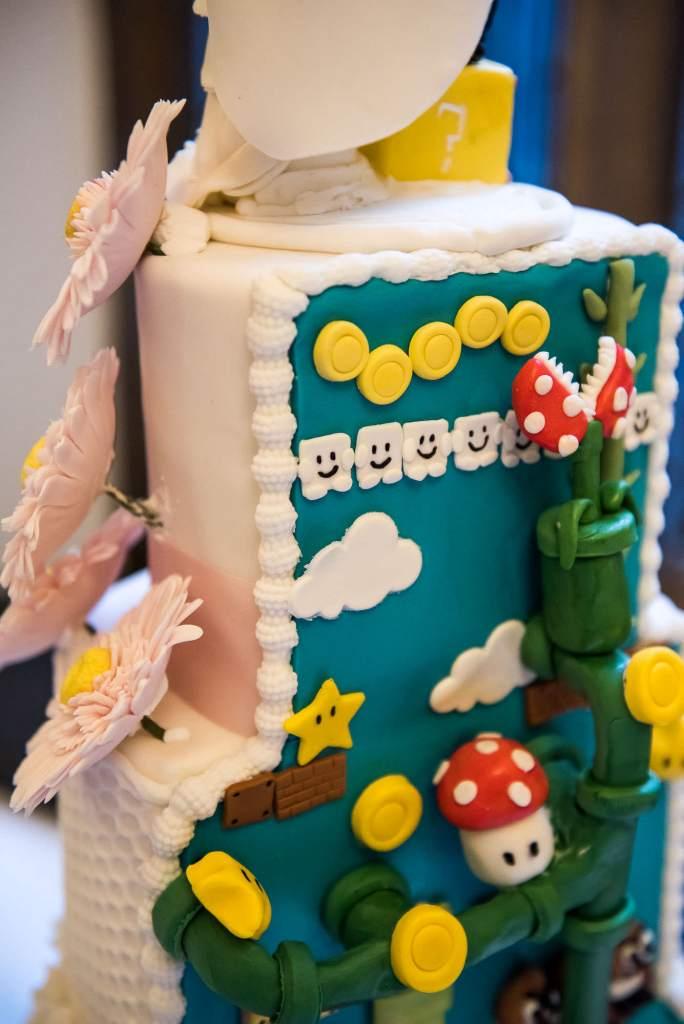 bespoke super mario wedding cake