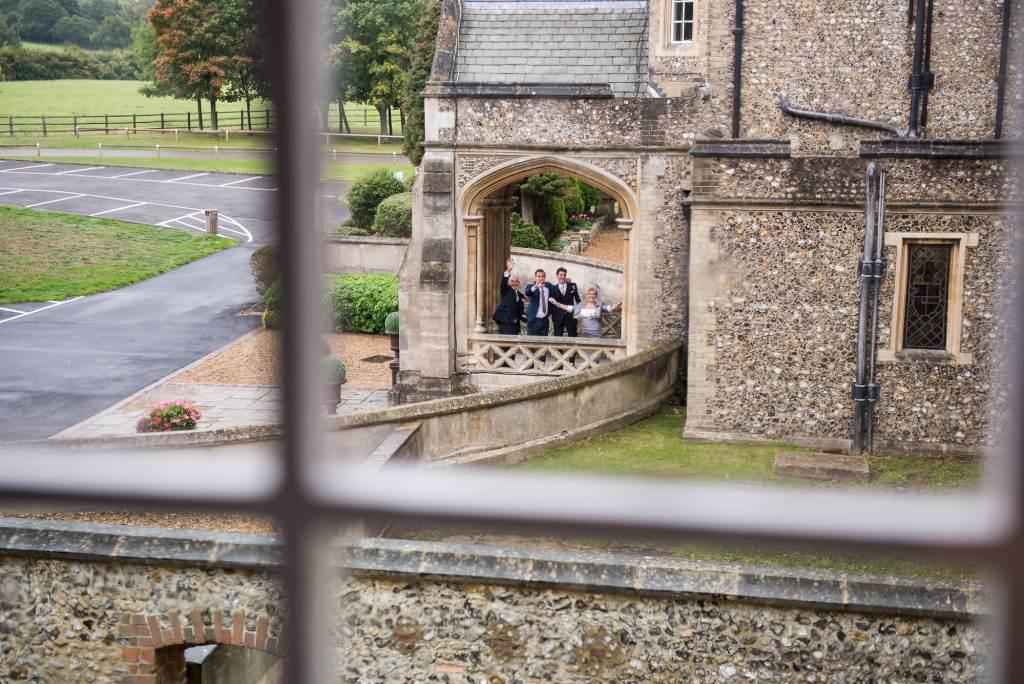 guests outside waving at Horsley Towers