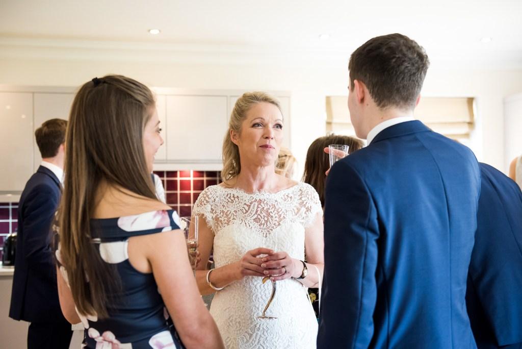 Buckinghamshire wedding photography, intimate and relaxed wedding reception