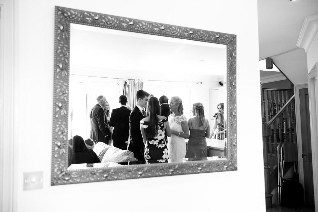 Alternative black and white wedding photography