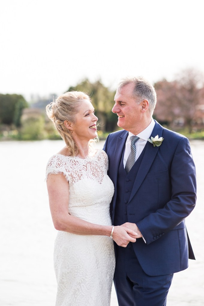 Relaxed couples wedding portrait, Marlow wedding