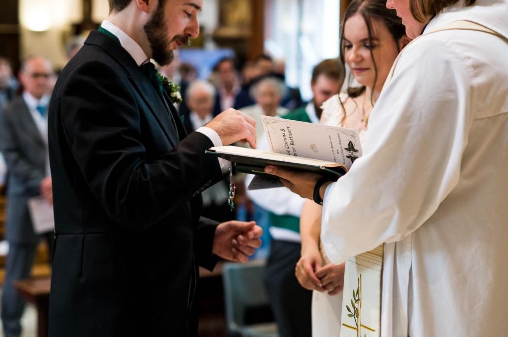 Natural wedding ceremony photography Surrey