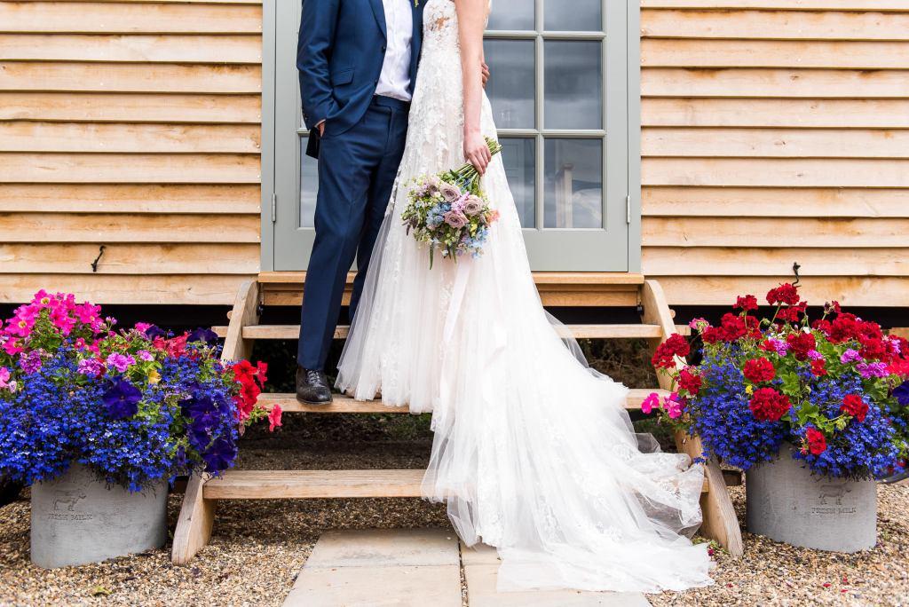 Creative wedding photography at Botley Hill Barn Farm