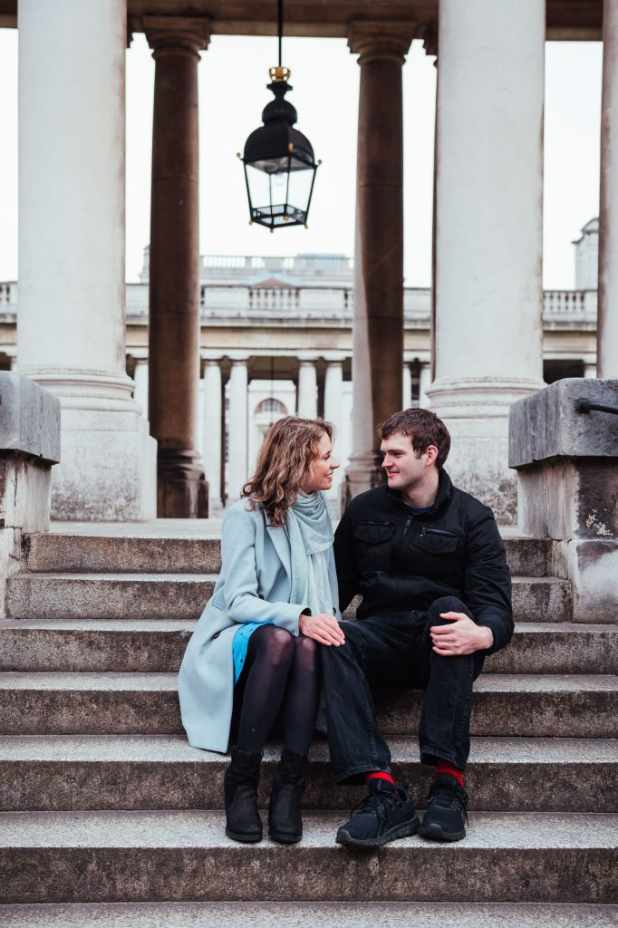 Creative couples portrait in Greenwich