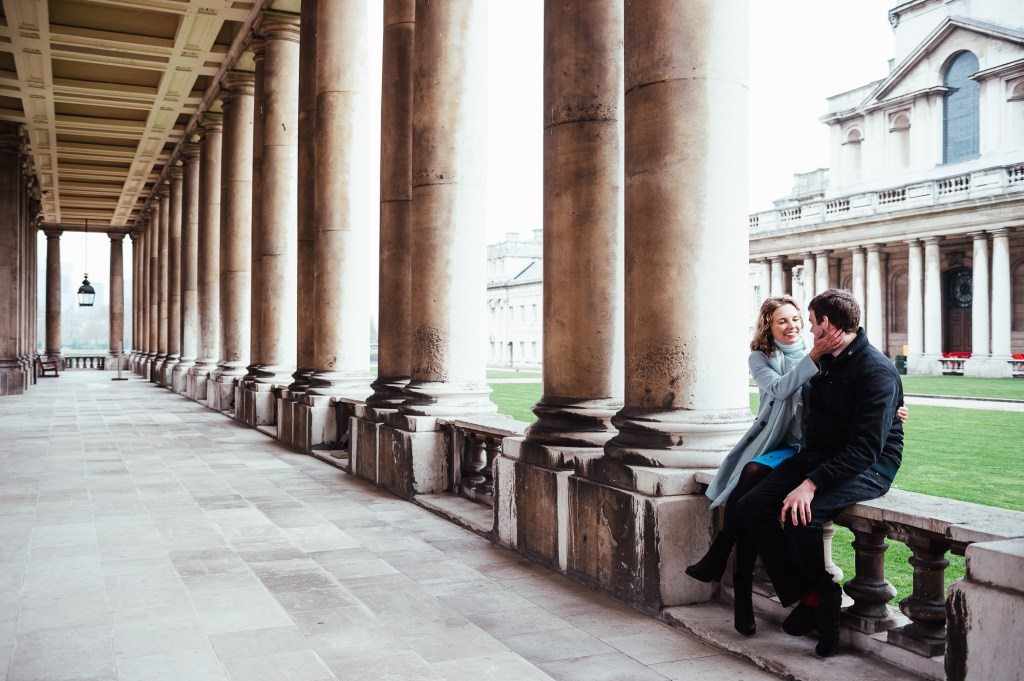 London engagement shoot at Old Royal Greenwich Naval College