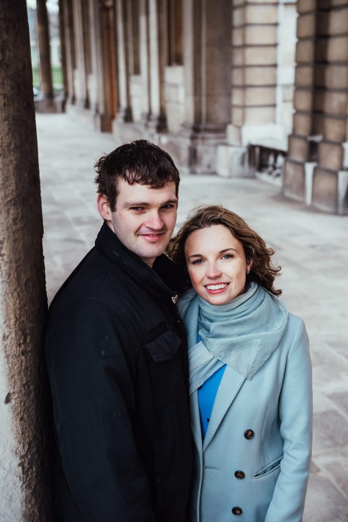 Couples portrait for Greenwich Park engagement shoot