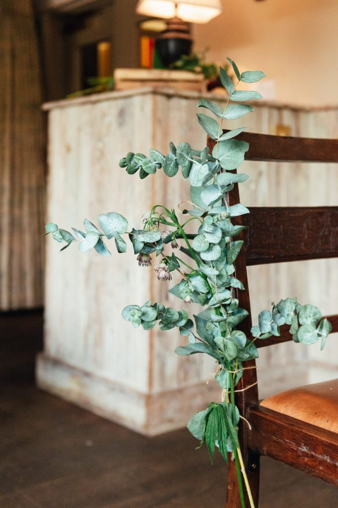 Green floral theme for Spring Surrey wedding
