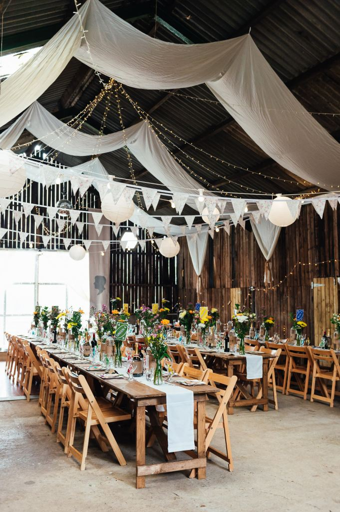 Deepdale Farm Barn wedding breakfast room