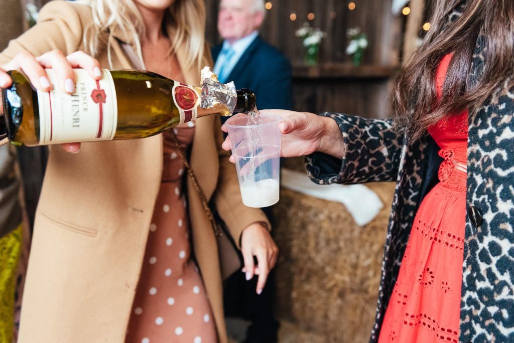 Champagne pouring